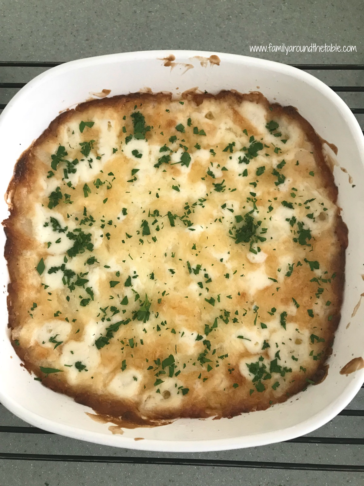 Baked onion dip is creamy and delicious perfect for entertaining friends.