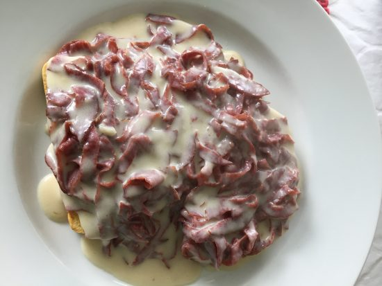 Chipped Beef over Toast