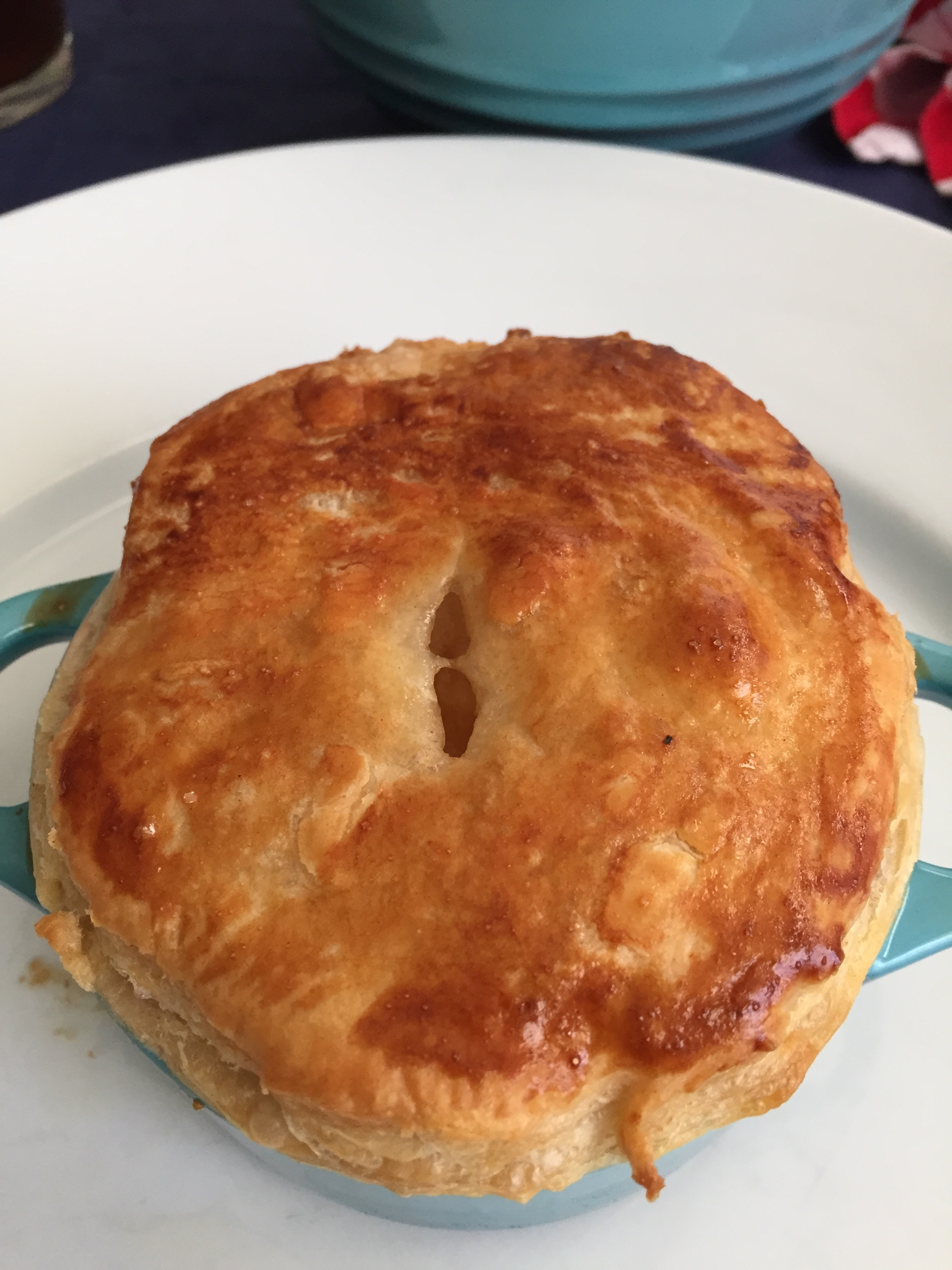 Individual chicken pot pies are the perfect portion size.