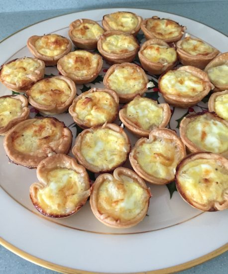 Mini swiss quiches are an easy appetizer that guest will enjoy.