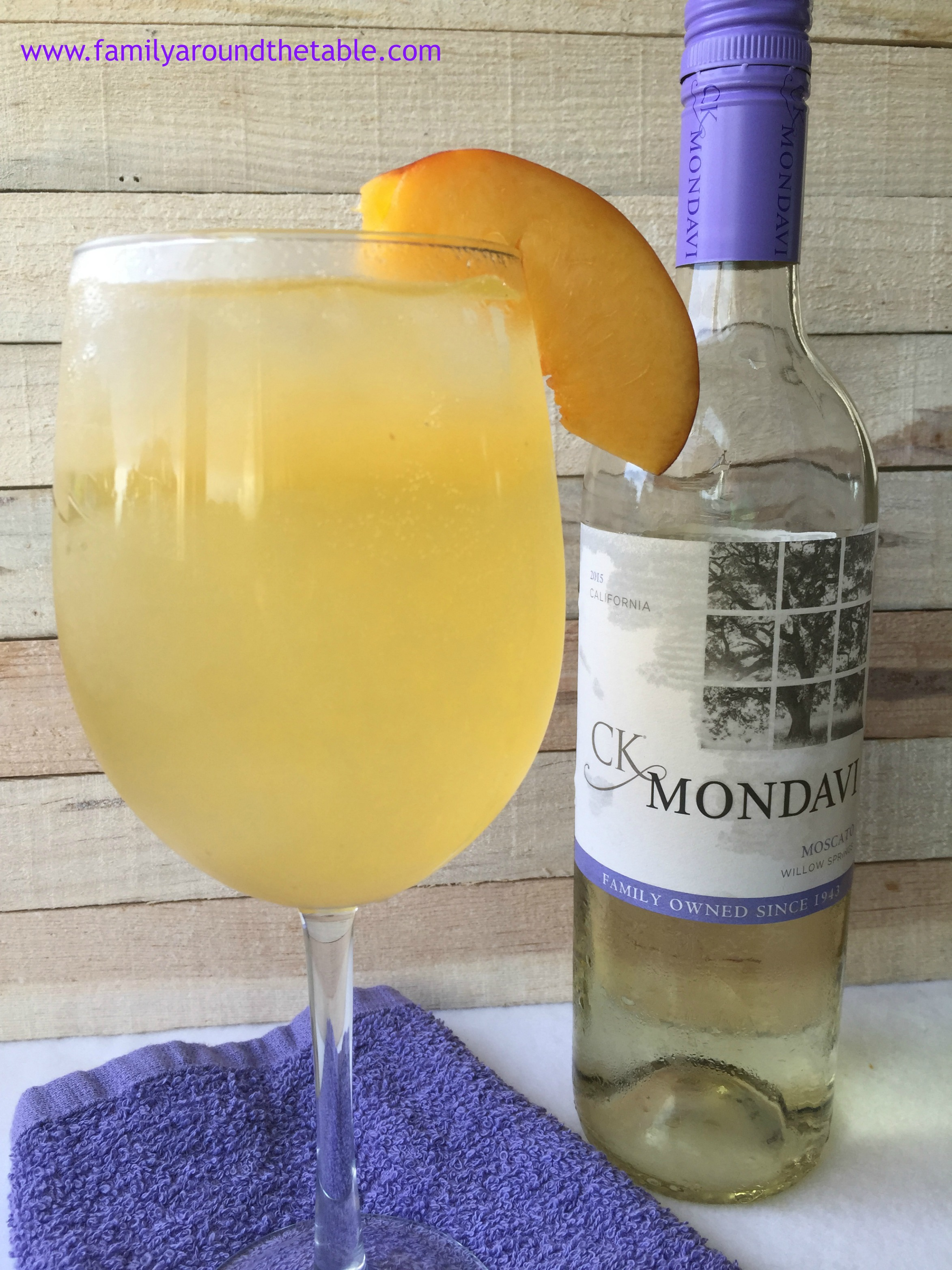 A Peach Splash is a refreshing wine based beverage for those hot summer nights.
