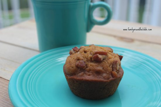 Nutty Pumpkin Muffins are a great grab and go breakfast.
