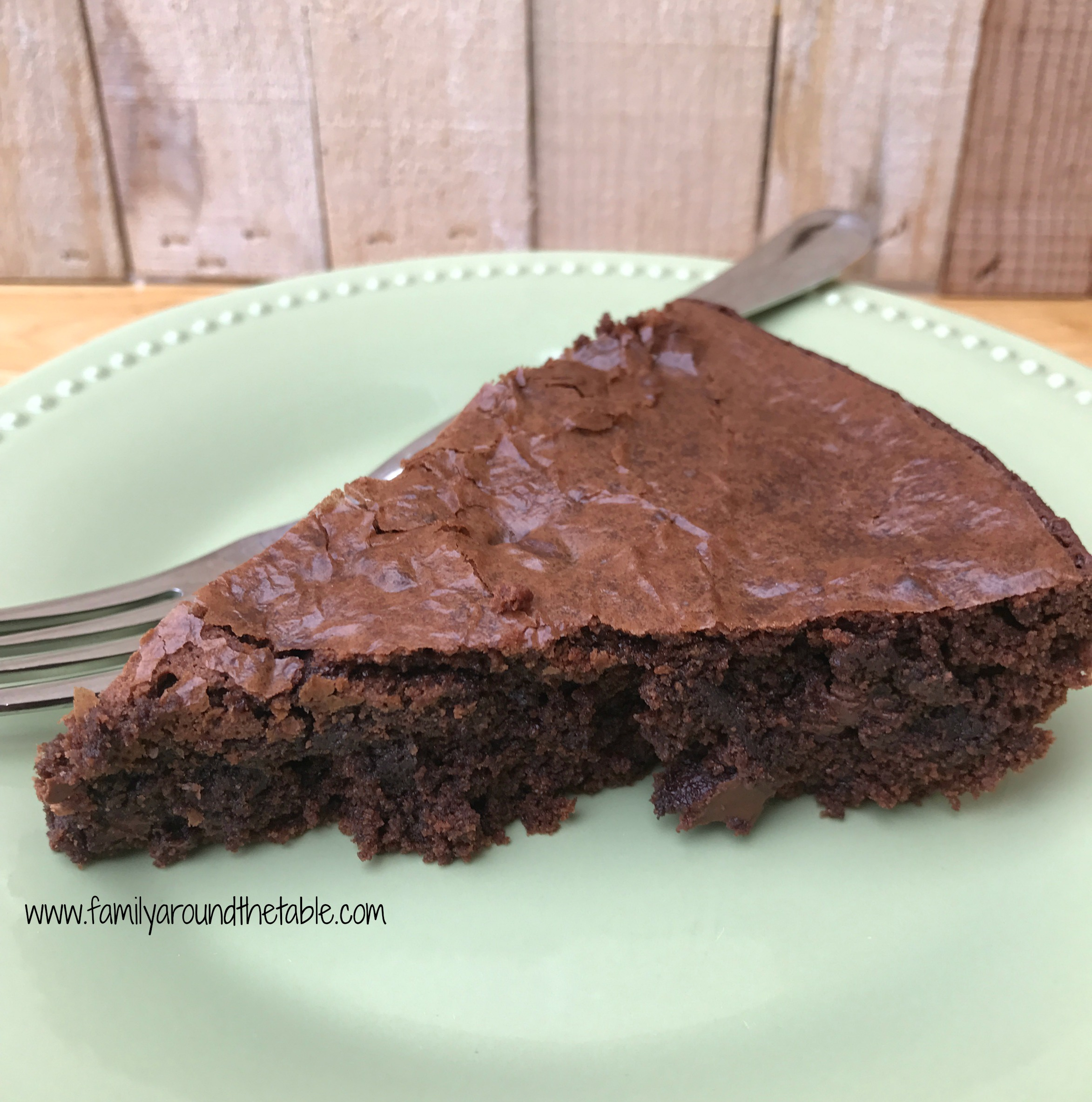 Brownie pie is a delicious treat for a potluck party