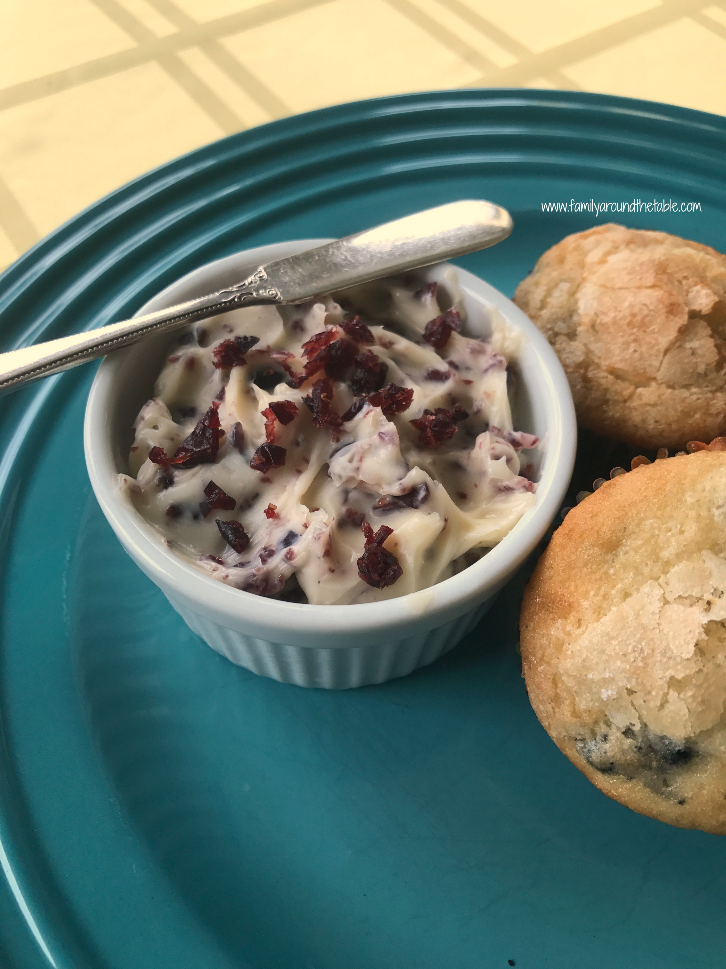 Cranberry butter is easy to make.