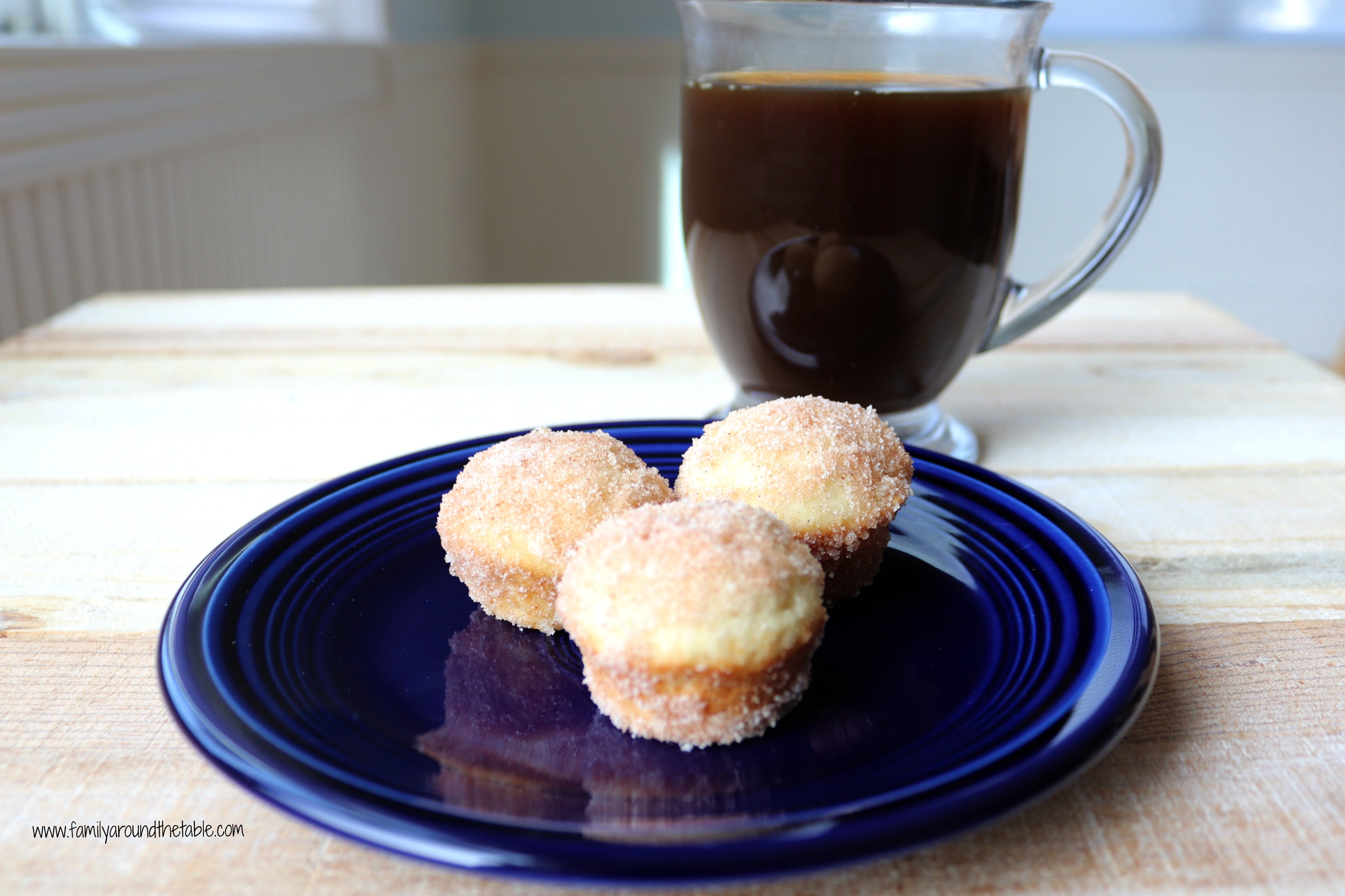 Mini Cinnamon Sugar Muffins are a great morning treat.