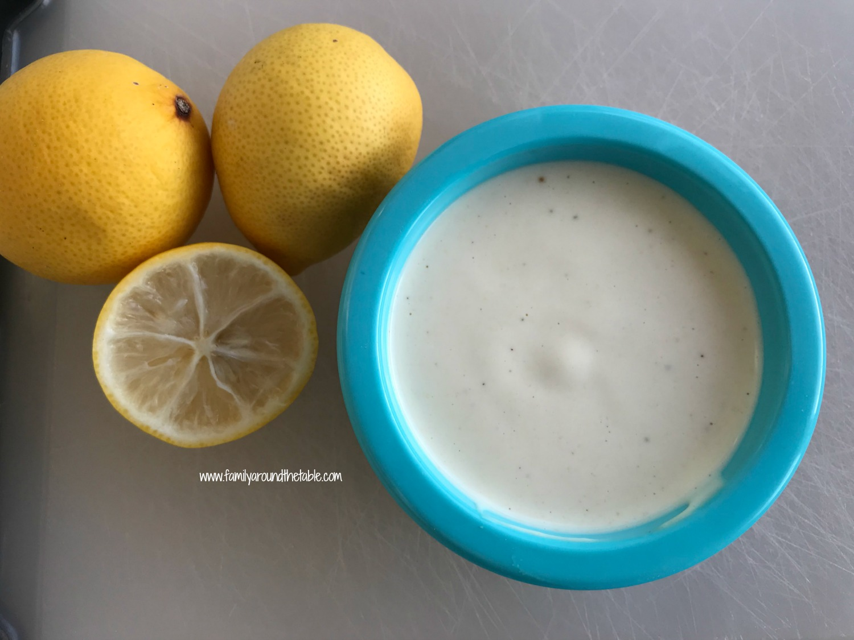 Key lime mustard sauce.