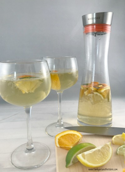 White wine sangria is a refreshing and easy addition to any brunch spread.