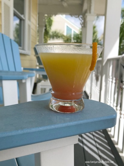 Relax with a Hawaiian martini for at home happy hour.
