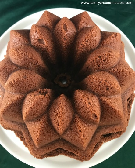 Simple chocolate pound cake starts in a cold oven.