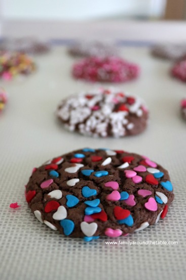 Heart sprinkles for Valentine's Day.