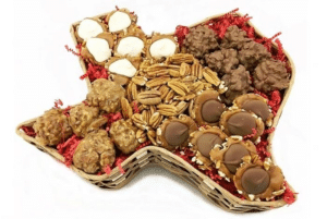 Millican Pecan Texas Shaped Gift Basket